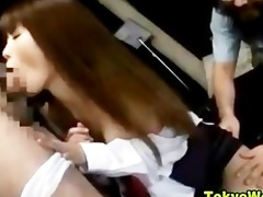 oriental japanese cutie reluctant oral job and