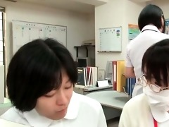 appealing oriental nurse getting kinky part1