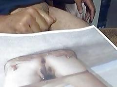 dude masturbating over photo of mrs pat wong