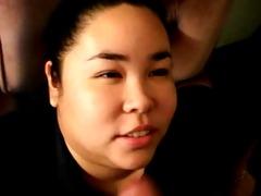 chunky bulky oriental coworker engulfing my
