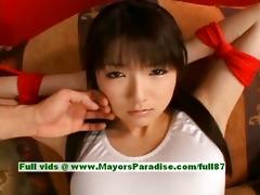japanese av girl is fastened and receives her