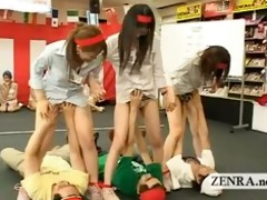 japan employees play weird bizarre group blowjob