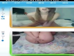 my chinese gf on livecam with one more babe