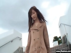 sexy legal age teenager japanese flashing body in