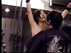 suspending &; thrashing a japanese milf-low