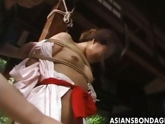 japanese slavery movie scene rope and bound