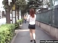 bitch japanese love outdoor flashing and fucking