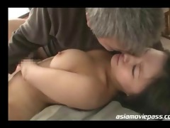 beautiful oriental lady screwed by old chap