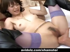 japanese sexy babe in three-some uncensored
