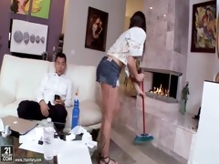 amwf latin chick giselle leon interracial with