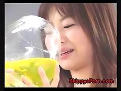 japanese drinks all her pee