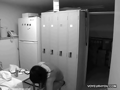 hidden camera in a gastroenterology lockerroom