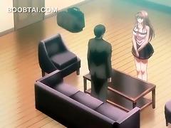 manga angel in large meatballs receives wet crack