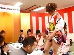 oriental geisha shows undies upskirt