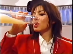 japanese bukkake bitch drinks a giant load of sex