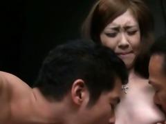 oriental lewd males rubbing moist vagina and