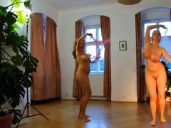 in nature women. erotic dance.