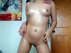 hawt oriental sweetheart playing with her tight
