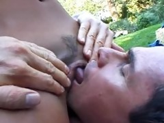 kaylani lei fucked in the garden