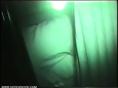 non-professional movie scene car sex at night