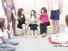 subtitled outlandish japanese cfnm with dark