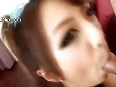 oriental teenager engulfing miniature knob
