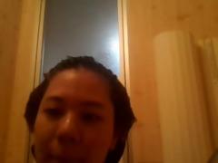 oriental gorgeous chatgirl having shower in