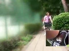 japanese schoolgirl masturbates on a modified