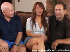 oriental wife screwed, hubby approves!