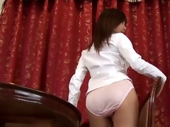 softcore oriental office worker panty tease