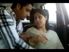 northindian youthful couples enjoyed in car part-i