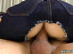 bushy cookie oriental playgirl riding dick like