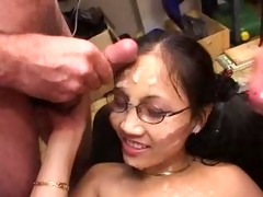 expressive asian cumshots paramour with german