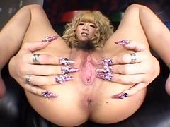 satsuki close-up japanese wet crack play!! see