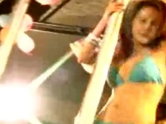 sexy oriental honey dancing and stripping