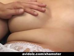 japanese babe receives her haiy cunt fingered