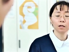 cute asian nurse acquires her mounds rubbed part8