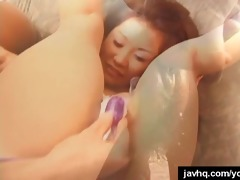 pleasant japanese hottie acquires asian vagina