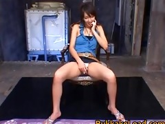 cute oriental shiho closes eyes and acquires part9