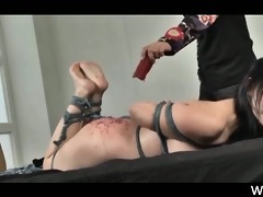 roped oriental sex serf submitted to raunchy