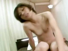 youthful asian hottie receives to ride knob