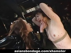 oriental bondage lezdom scene