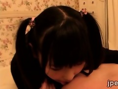 pig tailed japanese legal age teenager visits her