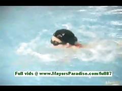 rio shinano amateure oriental hottie in the pool