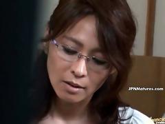 older oriental woman receives horny talking part9
