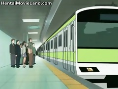 hot engulf and fuck in subway anime part1
