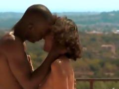exotic ebony love outdoors