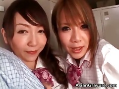sexy three-some with two oriental women part6