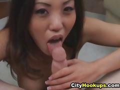 nasty oriental likes cum on her throat