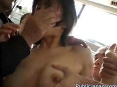 oriental lady is tall and acquires public sex